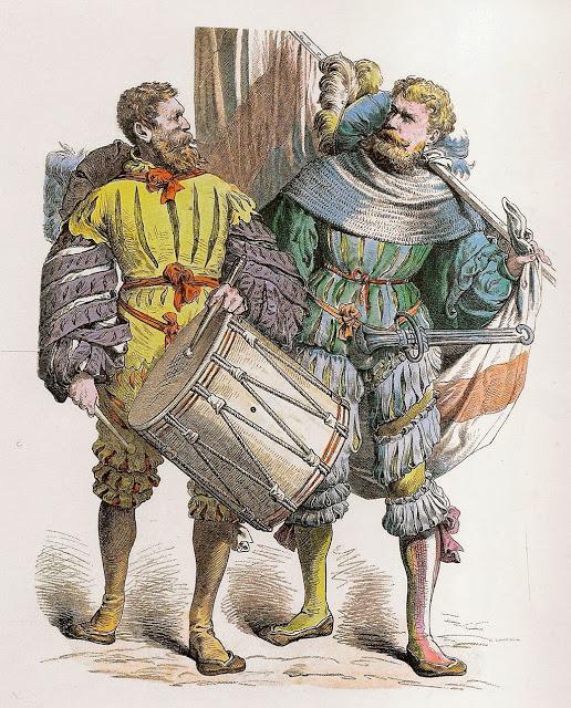 TAMBOR (Trommlerschläger) y ALFEREZ ABANDERADO (Fahnenträger )