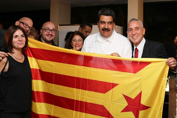 Maduro con la estelada socialista