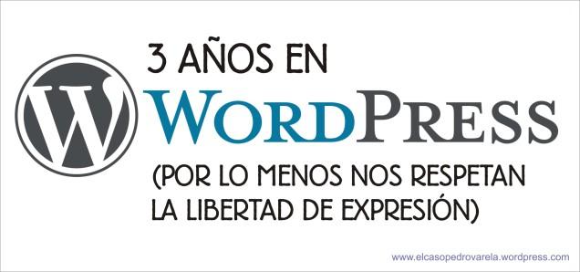 3 anos wordpress